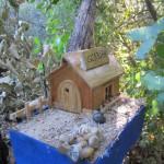a casinha de madeira